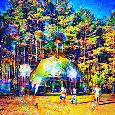 #psychedelic #psy #psycho #music #landscape #deepdream #deepdreams #deepdreamart #art by deep.dream.official