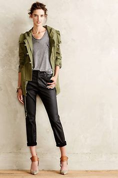 Anthropologie - AG Beau Leatherette Slouchy Skinny Jeans