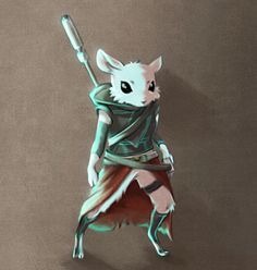 Cool looking ysoki. Fantasy Character Design, Character Concept, Character Art, Concept Art, Fantasy Wizard, Fantasy Rpg, Mythical Creatures Art, Cute Creatures, Dnd Characters