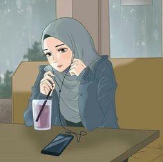 contoh karakter kartun hijab yang unik dan menarik - my ely Cartoon Pics, Girl Cartoon, Cartoon Art, Cartoon Design, Cute Girl Wallpaper, Cartoon Wallpaper, Hijab Drawing, Cute Muslim Couples, Islamic Cartoon