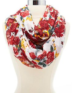 Floral Print Infinity Scarf: Charlotte Russe 9.99