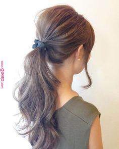 Axe techniques that make you addicted to you Up Hairstyles, Pretty Hairstyles, Medium Hair Styles, Curly Hair Styles, Ombre Highlights, Hair Arrange, Hair Setting, Japanese Hairstyle, Asian Hair