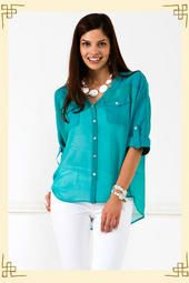 I am just dying to have this Painters Blouse from Francesca's...Hurry up and get it back in stock!