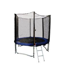 EXACME ExacMe 8ft Trampoline w/ Safety Pad and Enclosure Net All-in-one Combo Set