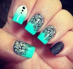Stunning Nails | See more nail designs at http://www.nailsss.com/acrylic-nails-ideas/2/