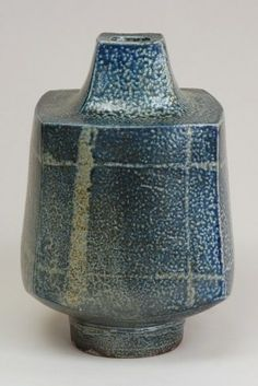 Simple salt-fired hand-built bottle by Wayne Ngan.