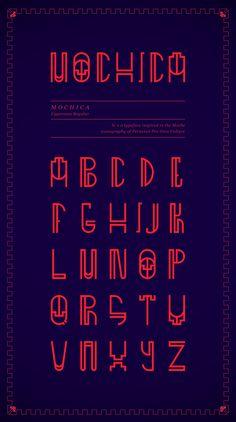 MOCHICA by Stephano Tarazona, via Behance. Trendtastic typeface.