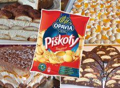 Keksíkový dort s vanilkovou příchutí Snack Recipes, Snacks, Thing 1, Pop Tarts, Tiramisu, Kefir, Chips, Homemade, Cooking