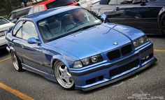 Estoril blue BMW e36 coupe