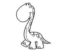 Dibujo de Dino para colorear Coloring For Kids, Coloring Books, Coloring Pages, Ideas Habitaciones, Stencils, Embroidery Applique, Embroidery Designs, Dinosaur Party, 1st Birthday Parties