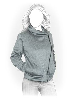 Sweatshirt - Naaipatroon #4011. Made-to-measure sewing pattern from Lekala with free online download.