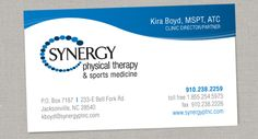 Synergy Physical Therapy Logo & Business Card Design – Audrey Chandler