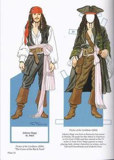 Famous Movie Pirates Paper Dolls (Dover Celebrity Paper Dolls): Tom Tierney: 9780486471525: Amazon.com: Books