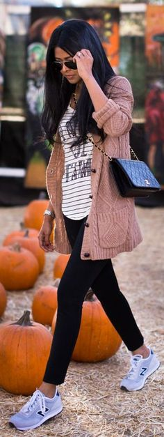 I love this look. Oversized tee and this sweater (color and sizing). - Alisa