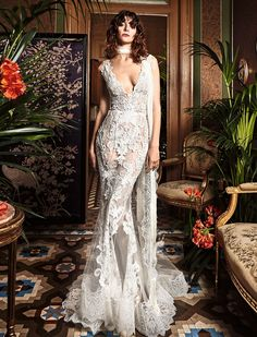 Yolan Cris wedding dress - BoHO glam wedding dress