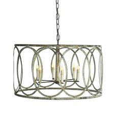 Ashley Taylor Home - French Iron Charles Pendant 6 Light, $1,125.00 (http://www.ashleytaylorhome.com/french-iron-charles-pendant-6-light/)