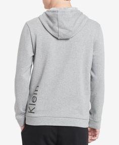 Calvin Klein Men's Logo Full-Zip Hoodie, Created for Macy's - White XXL