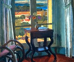 Vanessa Bell, Interior with a Table 1921