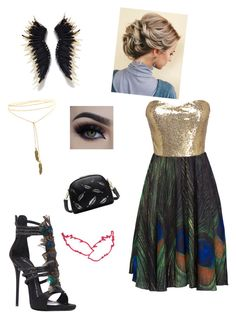 """feathers"" by mayraflores534 on Polyvore featuring WithChic and Giuseppe Zanotti"