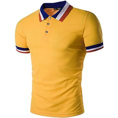 Men's Casual T Shirt Summer Fashion Casual Short Sleeve Polo Shirt 10 Colors 5 Size Mens Polo T Shirts, Dri Fit T Shirts, Boys T Shirts, Tee Shirts, Short Shirts, Polo Design, Latest Clothes For Men, African Clothing For Men, Printed Tees