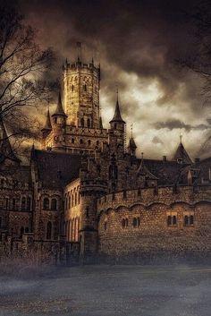 Medieval Mzmarienburg castle in Germany (Marienburg Castle Hanover Germany/castles & cottages)