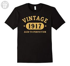 Men's 100th Birthday B-day Gift 100 years old 1917 T-Shirt Large Black - Birthday shirts (*Amazon Partner-Link)