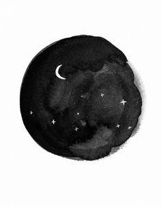 moon | string + pine