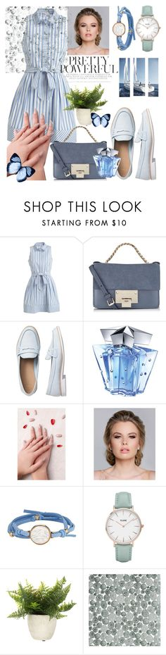 """""""First date look"""" by berlianabrindgirl ❤ liked on Polyvore featuring Milly, Jimmy Choo, Gap, Thierry Mugler, Static Nails, Asha by ADM and CLUSE"""