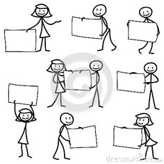 Stick Man Stick Figure Holding Blank Sign Stock Vector - Illustration of poster, abstract: 38950947 Doodle Drawings, Doodle Art, Easy Drawings, Bullet Journal Ideas Pages, Bullet Journal Inspiration, Visual Note Taking, Doodle People, Stick Figure Drawing, Blank Sign