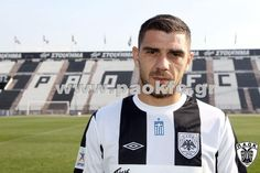 Kostas Katsouranis with black and white stripes in Toumpas stadium