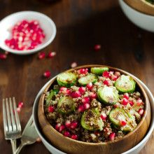 Quinoa Salad with Roasted Brussels Sprouts and Pomegranate_