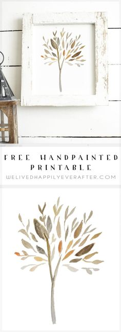 Leaves Changing Color Free Fall Autumn Watercolor Printable Treatment Projects Care Design home decor Watercolor Walls, Watercolor Trees, Watercolors, Watercolor Portraits, Watercolor Landscape, Autumn Art, Autumn Trees, Autumn Prints, Printable Leaves