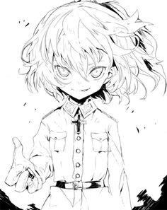 Tanya Degurechaff Cool Drawings, Drawing Sketches, Anime Manga, Anime Art, Tanya The Evil, Tanya Degurechaff, Cool Animations, Manga Games, Kawaii Anime