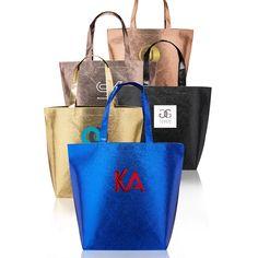 966a2f15368 New Castle Non-woven Metallic Tote Bags Metallic Tote Bags