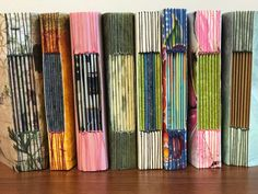 A group of local book art lovers finished an OLLI class last week and created some beautiful model books in preparation for their final book. Some had never made a book and I don't think any … Handmade Journals, Handmade Books, Button Hole Stitch, Art Journal Techniques, Journal Art, Junk Journal, Art Journals, Stitch Book, Bookbinding Tutorial