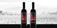 Grafický design etikety vína Pneusej