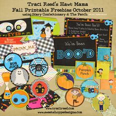 Fall & Halloween Printable Freebies:)