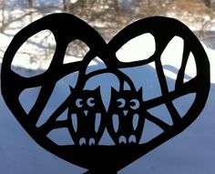 Cute DIY cut out for valentines that love owls