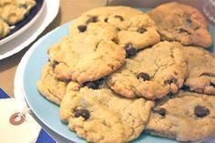 choc chip cookies with/ Spectrum shortening -- not half bad : )