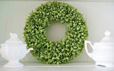 Happy At Home: DIY Boxwood Wreath