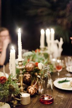 woodsy winter, kinfolk-inspired dinner party by melanie gabrielle photography