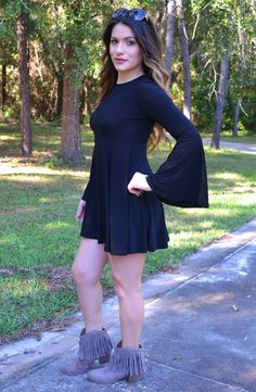 Click to shop - free shipping over $50!  Pretty Sweet Dress - Black – Worn & Raised