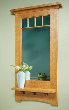 Craftsman Style Bathroom Mirror Best Of Craftsman Style Wall Mirror Arts And Crafts Furniture, Furniture Projects, Furniture Plans, Wood Furniture, Home Projects, Furniture Design, Wooden Projects, Woodworking Projects Diy, Woodworking Furniture