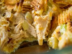 Crispy Hot Chicken Salad Casserole. Ketofy by taking out the chips and eating with cheese crisps