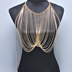 Wholesale Stylish Multi-Layered Tassels Pendant Design Women's Body Chain Only $6.40 Drop Shipping | TrendsGal.com