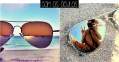 Ideias de fotos para tirar na praia óculos