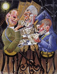 """""""Die Skatspieler/The Skat Players"""" by Otto Dix"""