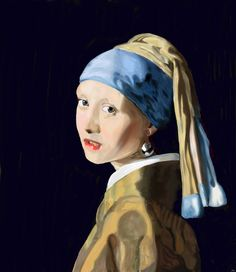 the girl with the turban by Mixmax3d.deviantart.com on @DeviantArt #digital #digitalpaint #digitalpainting #girlwithapearlearring #light #photo #portrait #study #vermeer #mixmax3d #girlwiththeturban