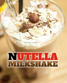 Nutella Milkshake von Yasilicious