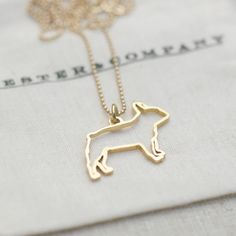 French Bulldog Necklace Vermeil by Chester & Company | Fab.com